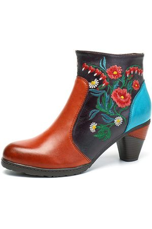 Newchic SOCOFY Retro Leather Boots