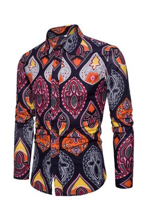 Newchic Men Casual - Casual Floral Printing Shirts