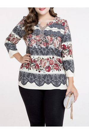Newchic Women Shirts - Elegant Printed V-Neck Shirt
