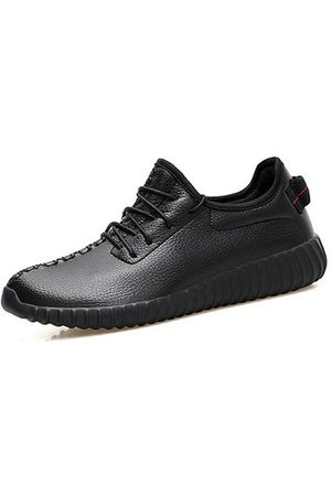Newchic Men Casual Shoes - Men Microfiber Leather Lace Up Sport Casual Sneakers
