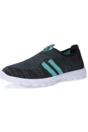 Newchic Men Casual Shoes - Men Breathable Knitted Fabric Slip On Casual Sneakers