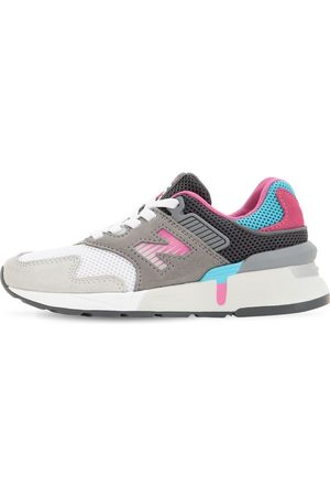 New Balance 997 Mesh & Suede Slip-on Sneakers