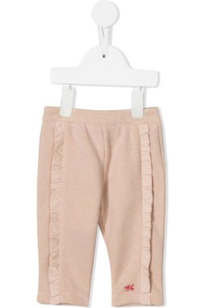 Emporio Armani Kids Chinos - Ruffle-trimmed trousers