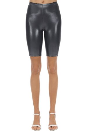 VELVET SOCK'S BY SIMONE WILD Women Shorts - Metallic Techno Cycle Shorts