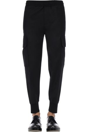 Neil Barrett Flannel Stretch Wool Cargo Pants