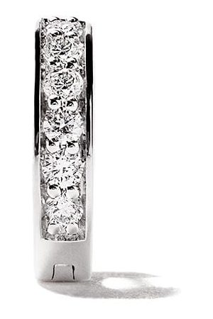 ALINKA 18kt white gold IRINA diamond huggie earring