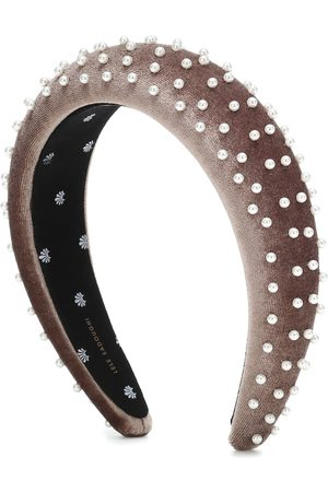 Lele Sadoughi Women Headbands - Exclusive to Mytheresa – Embellished velvet headband