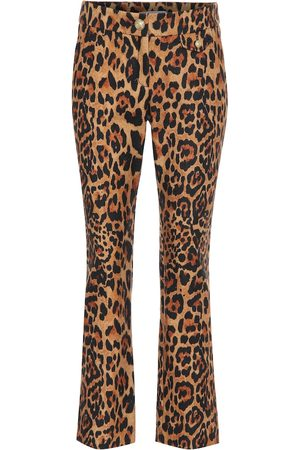 Paco rabanne Women Formal Pants - Leopard-print wool pants