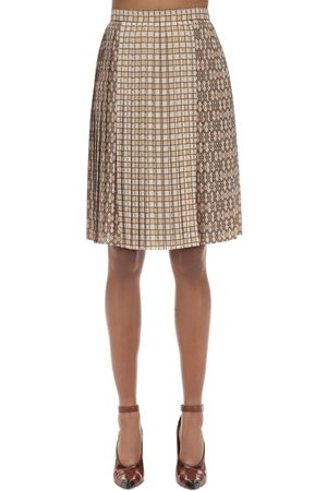 Burberry Printed Techno Twill Midi Skirt