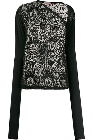 Romeo Gigli Pre-Owned 1990s embroidered sheer blouse