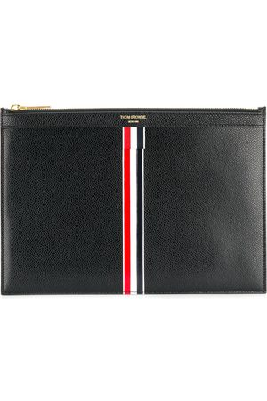 Thom Browne Vertical Intarsia stripe small tablet holder