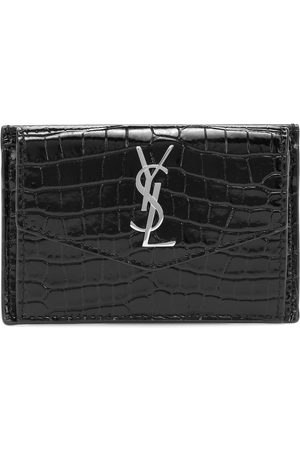 Saint Laurent Uptown croc-effect leather wallet
