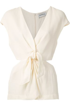 Olympiah Magnolia front knot blouse