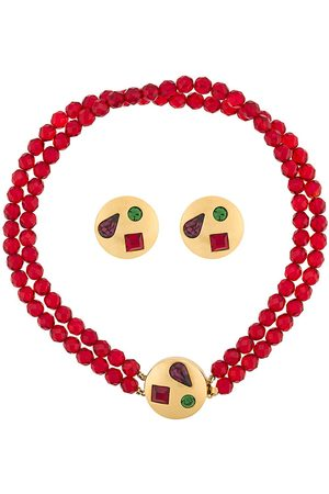 Givenchy Pre-Owned 1980s embellished necklace and earrings set
