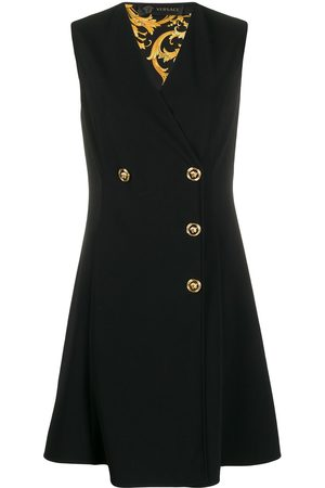 VERSACE Double breasted sleeveless dress