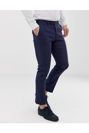 Moss Bros Moss London slim suit trouser in linen with stretch