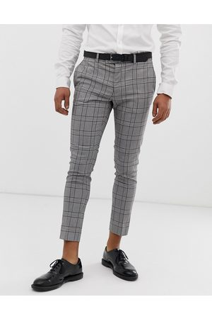 River Island Super skinny cropped smart trousers in check