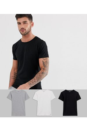 Tommy Hilfiger Stretch crew neck lounge t-shirts in 3 pack in regular fit