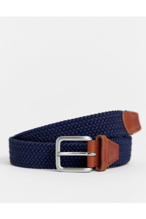 Jack & Jones Woven belt with buckle in