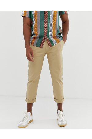 Celio Cropped slim fit chinos in