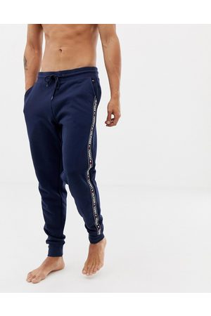 Tommy Hilfiger Authentic cuffed lounge joggers with side logo taping in