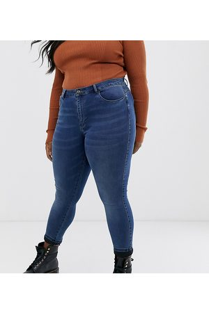 Only High waisted skinny jean in mid wash