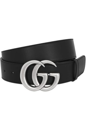 Gucci 40mm Gg Buckle Smooth Leather Belt