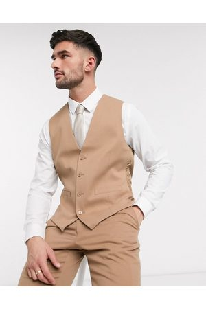 French Connection Wedding slim fit flannel waistcoat