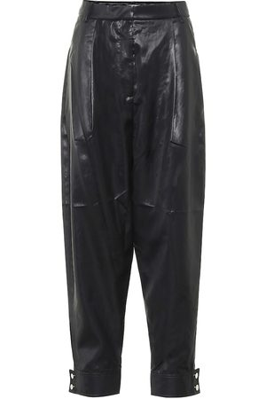 tibi Liquid Drape carrot pants