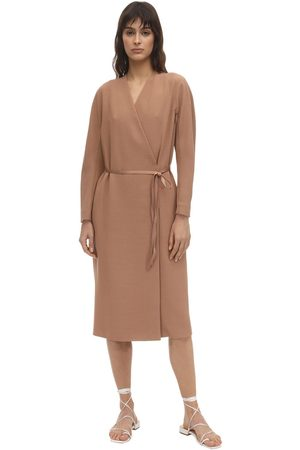 Agnona Women Coats - Belted Wool Blend Dust Coat