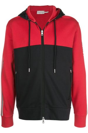 Moncler Colour blocked zipped hoodie