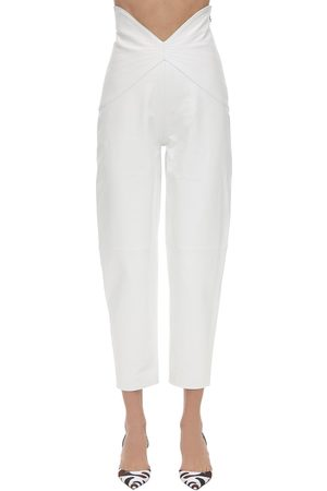 The Attico Butterfly High Waist Leather Pants