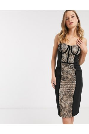 River Island Corset detail lace dress in