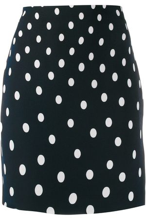 VERSACE Polka dot print short skirt