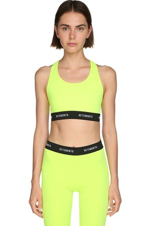 Vetements Logo Lycra Crop Top