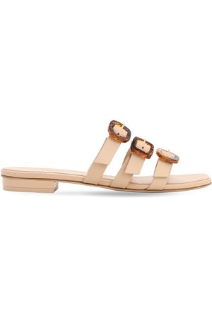 Cult Gaia Women Flats - 10mm Tallulah Leather Flat Sandals