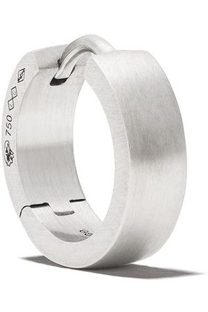Le Gramme 18kt brushed white gold 25/10G Ribbon earring