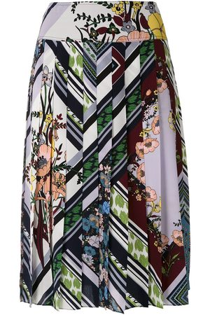 Tory Burch Floral-print pleated skirt