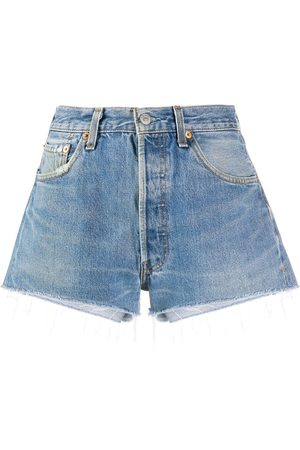 RE/DONE Slim-fit denim shorts