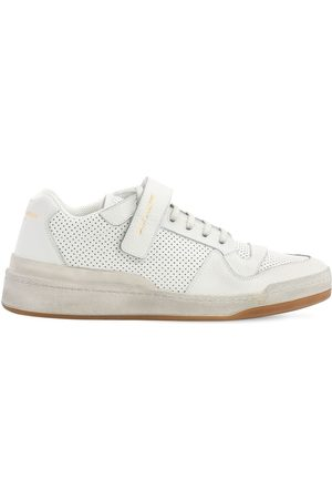 Saint Laurent Travis Perforated Leather Sneakers