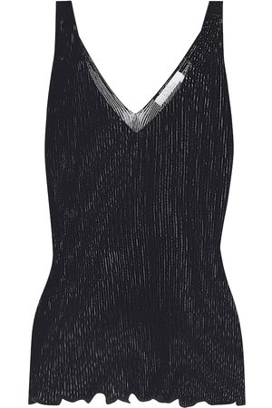 Chloé Ribbed-knit stretch-cotton tank top