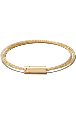 Le Gramme 18kt brushed yellow Le 15 Grammes Double Cable Bracelet