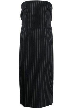Dolce & Gabbana Pinstriped strapless fitted dress