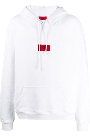 424 FAIRFAX Embroidered logo patch boxy fit hoodie