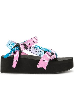 Arizona Love Bandana wrapped platform sandals