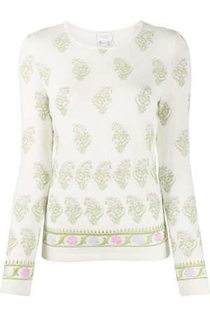 Giambattista Valli Knitted floral embroidered jumper