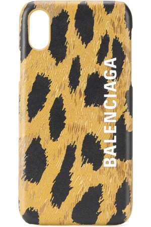 Balenciaga Cash leopard-print iPhone Xs case