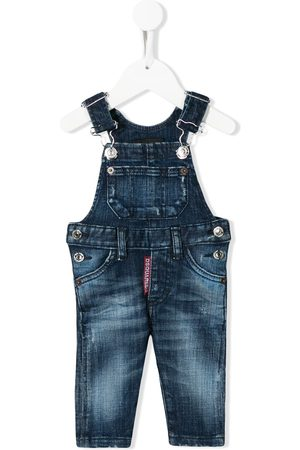 Dsquared2 Faded denim dungarees
