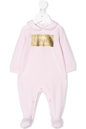 VERSACE Long-sleeved logo pajamas