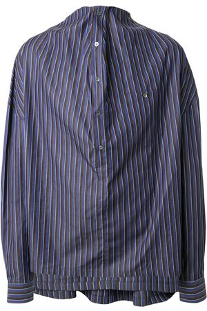 Y / PROJECT Draped striped shirt